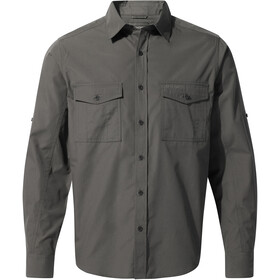 Craghoppers Kiwi Longsleeve Shirt Heren, dark grey